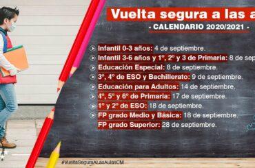 Información relativa al inicio de curso escolar 2020/21 en la Comunidad de Madrid