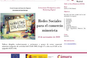 Cursos de la Cámara de Comercio de Madrid dirigidos al comercio minorista