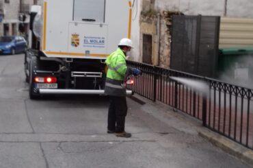 El Ayuntamiento de El Molar pone en marcha el Plan de actuación para la desinfección de vías públicas