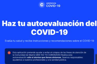 La Comunidad de Madrid estrena una web pionera de coronavirus que tendrá formato 'App' esta semana