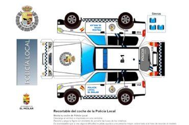 Los vehículos de la Policía Local de El Molar y de Protección Civil en la Agenda de El Molar Contigo en Casa