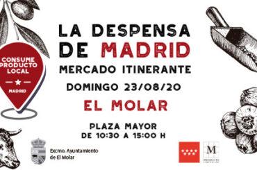 La Despensa de Madrid, el mercado itinerante de los Alimentos de Madrid, se instalará en El Molar el 23 de agosto.