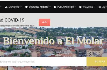 """Ya en funcionamiento nuevo apartado """"Actualidad covid19"""" en la web del Ayuntamiento de El Molar"""