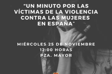 El Ayuntamiento de El Molar guardará un minuto de silencio por las victimas contra la violencia hacia las mujeres en España