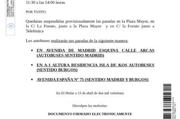 Aviso: Corte de tráfico en Pza. Mayor 18 de abril desde las 11:30 a las 14:00 horas