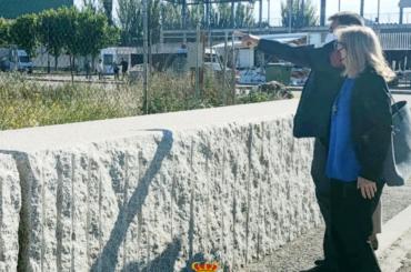 José Antonio Sánchez,  Dtor. Gral. Admón. Local. de la Comunidad de Madrid, visita El Molar
