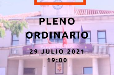 Convocatoria de Pleno Ordinario del mes de julio