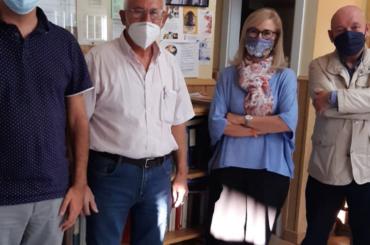 La alcaldesa de El Molar y el Concejal visitan el Hogar del Mayor tras su reapertura  octubre